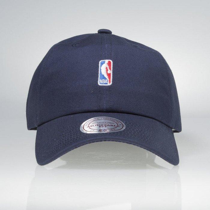 sale retailer e5b27 1d82d Mitchell   Ness strapback Logo navy HUD011 NBA Logo Low Pro   Bludshop.com