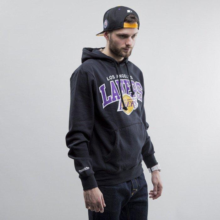 Mitchell /& Ness Sweat /à capuche 3 points Arch LA Lakers Black