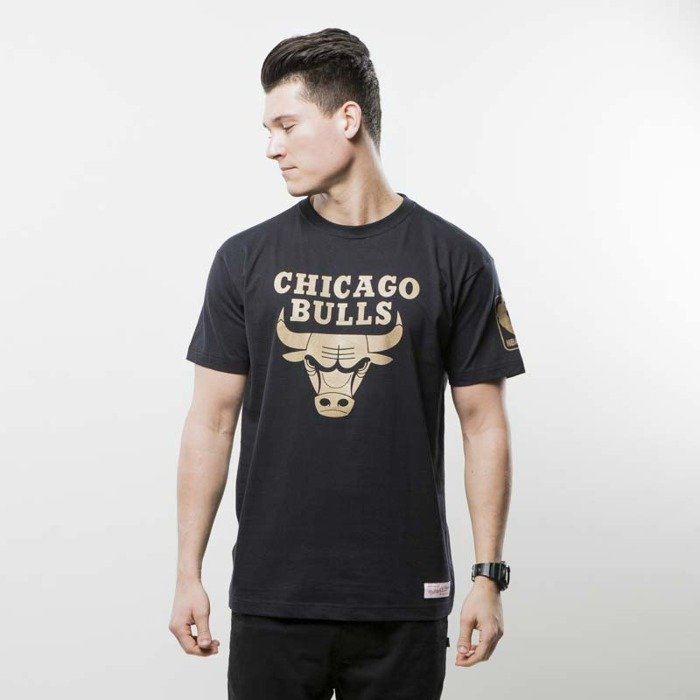 mitchell ness t shirt chicago bulls black nba winning percentage. Black Bedroom Furniture Sets. Home Design Ideas