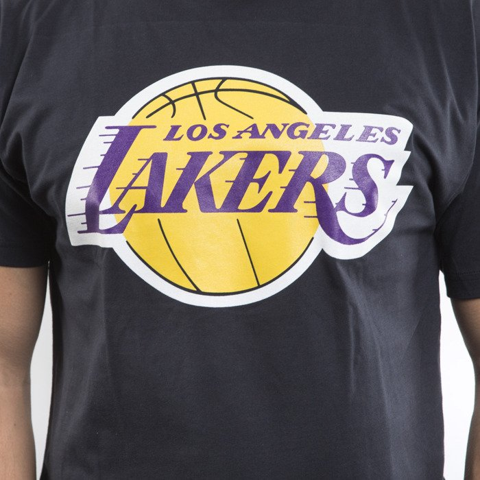 Mitchell ness t shirt los angeles lakers black team logo - Black lakers logo ...