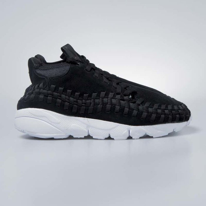 online store a9100 df36e Nike Air Footscape Woven Chukka black   black-white 443686-004 ...