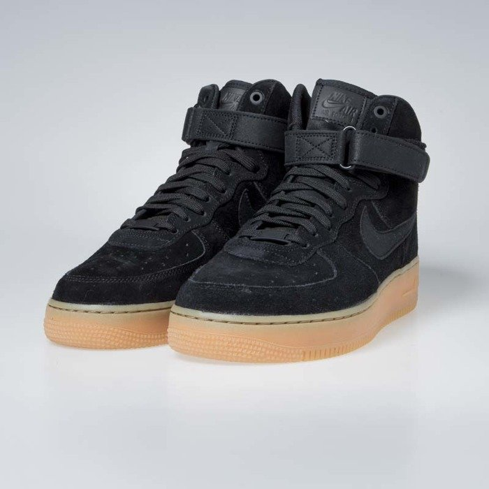 Nike Air Force 1 High '07 LV8 Suede black black gum med brown (AA1118 001)