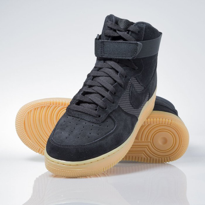 size 40 91348 f612c Nike Air Force 1 High 07 LV8 black black-gum light brown ...