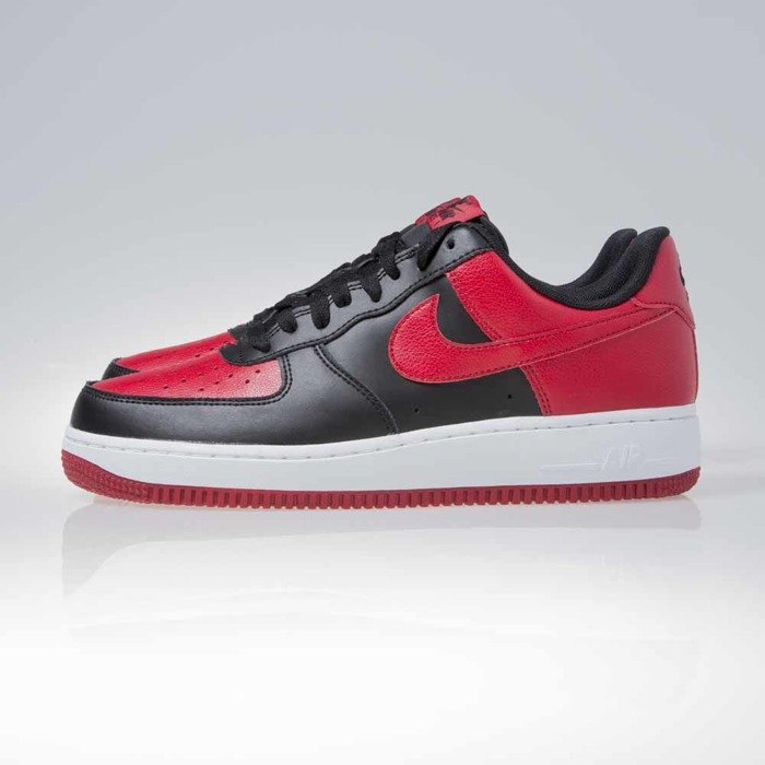 new style 355fe eb626 ... Nike Air Force 1 Low black   gym red-white (820266-009) ...