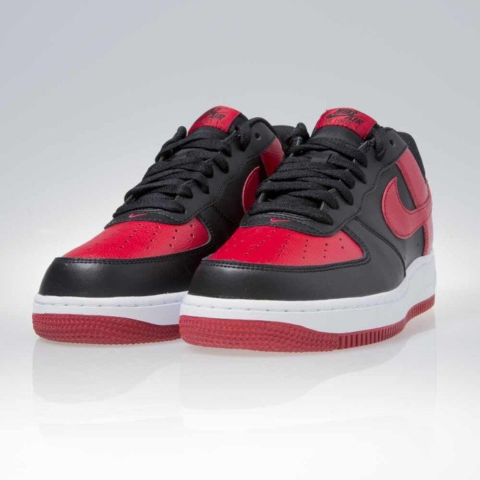 nike air force 1 low black and red