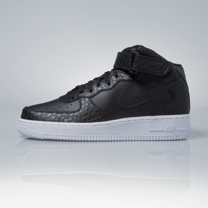nike air force 1 mid black red white pl
