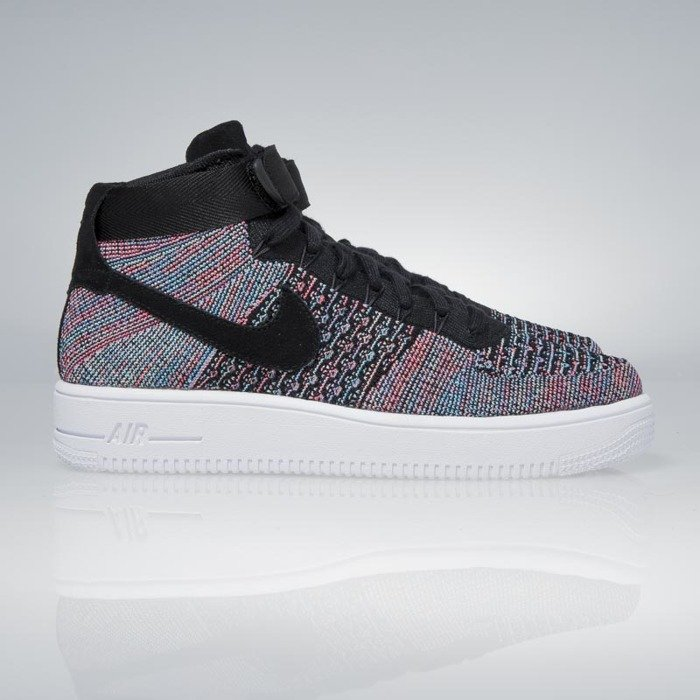 brand new 17281 dbef6 canada nike air force 1 ultra flyknit mid hot punch black blue glow 817420  9973d 1ed99