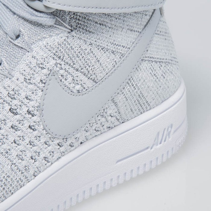 wholesale dealer 3a489 11422 ... Nike Air Force 1 Ultra Flyknit Mid wolf grey  wolf grey-white 817420-  ...