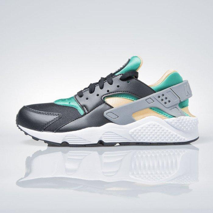 8481bf571255b ... Nike Air Huarache black   white-emerald-resin 318429-018 ...