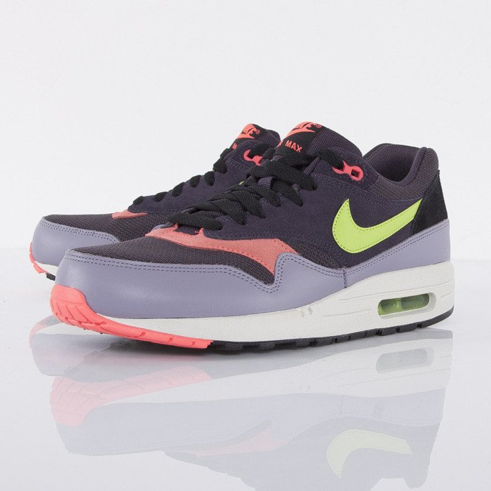 new style 75f40 ddb9c Nike Air Max 1 Essential cave purple force green-purple steel (537383-500)   Bludshop.com
