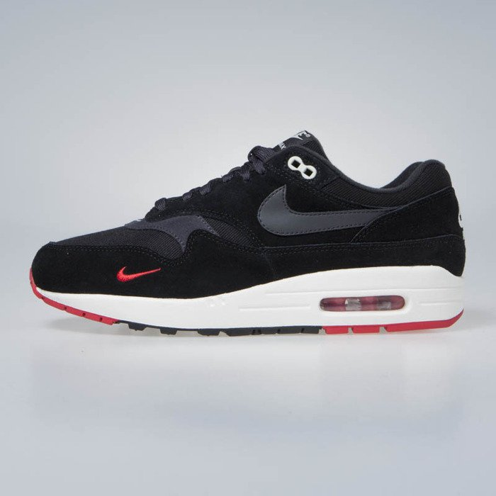 88143866aedc Nike Air Max 1 Premium black oil grey-university red (875844-007 ...