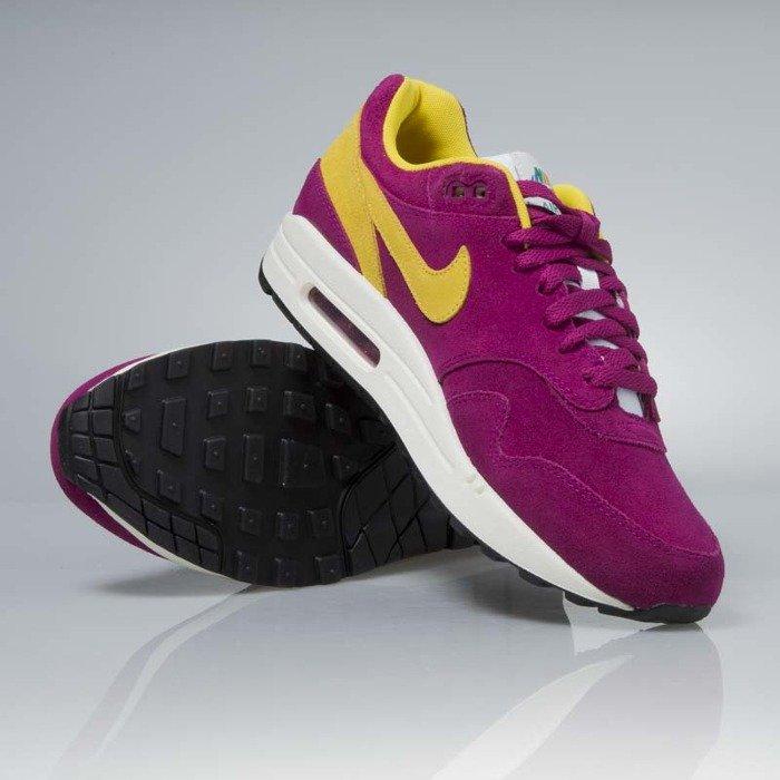 181695dcf5 Nike Air Max 1 Premium dynamic berry vivid sulfur 875844-500 .