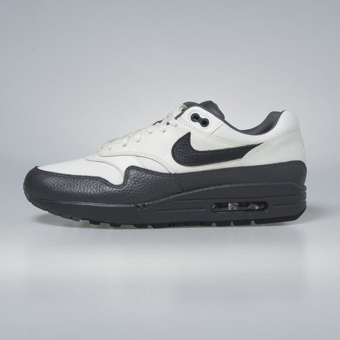 ... Nike Air Max 1 Premium sail / dark obsidian - dark grey 875844-100 ...