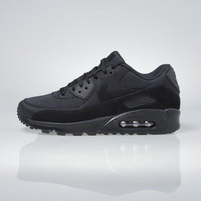 Nike Mens Air Max 90 Essential Leather Synthetic Black White Cool Grey Trainers 10.5 US