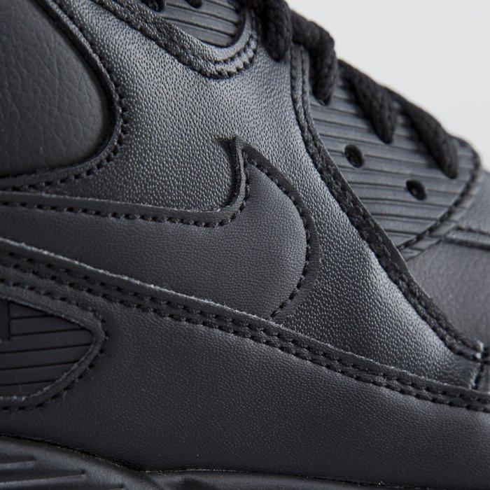 pretty nice 1ddc4 513d8 ... Nike Air Max 90 Leather black   black (302519-001) ...