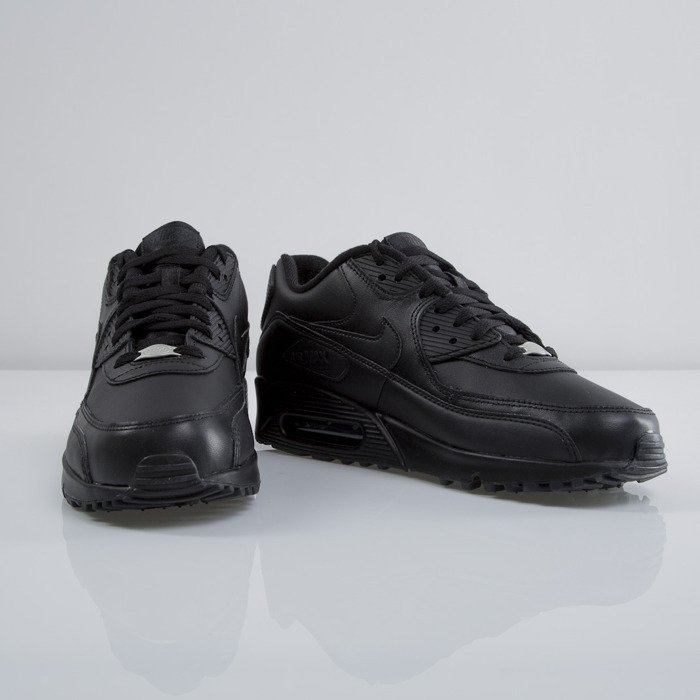 separation shoes 4fc2c 0869e ... new zealand nike air max 90 leather black black 302519 001 618a0 fb358
