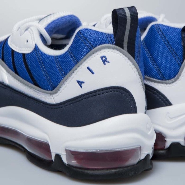 Nike Air Max 98 (WhiteUniversity Red Obsidian) 640744