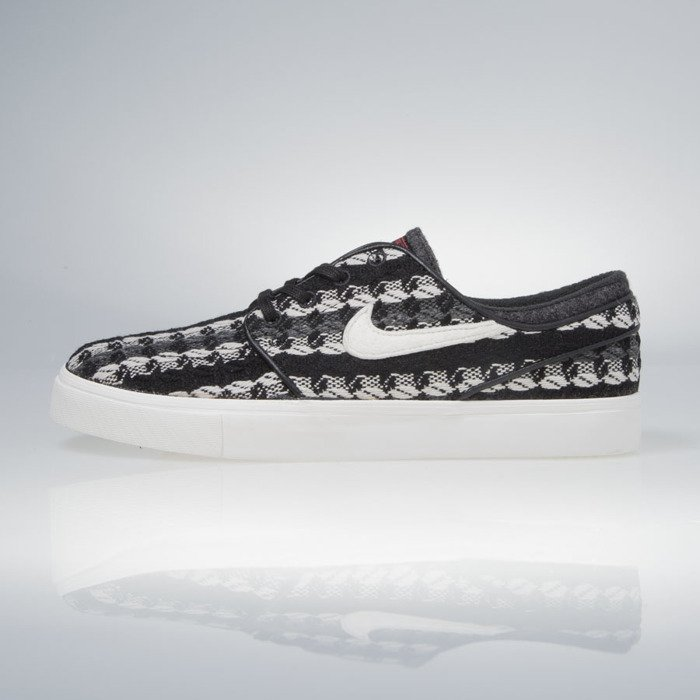 Nike SB Stefan Janoski Mid Warmth Black Ivory Sneakers (Black/Ivory-Gym Red)