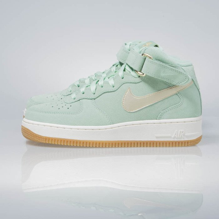best loved f8b56 56124 ... get nike wmns air force 1 07 mid seasonal enamal green metalic gold  star 818596 41ef5