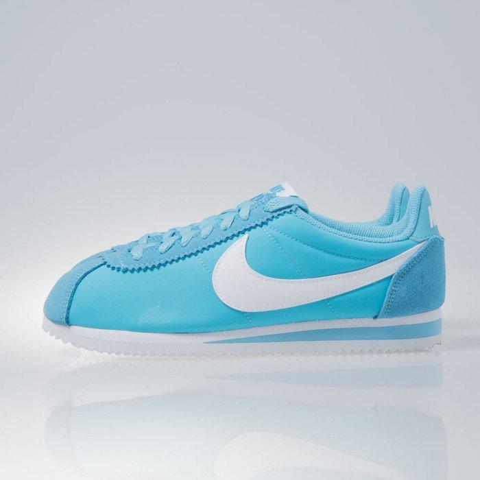 Nike WMNS Classic Cortez Nylon gamma blue  white 749864410