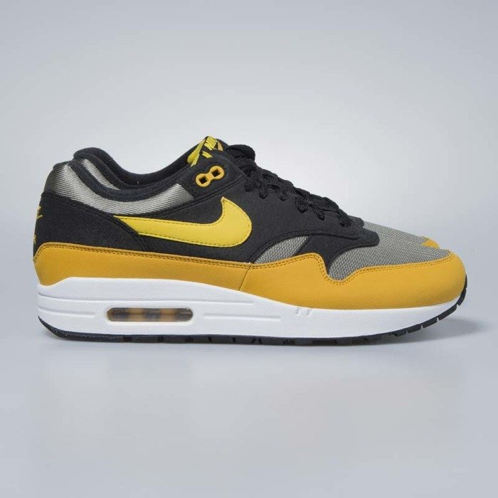 check out 09807 747bb Nike sneakers Air Max 1 dark stucco / vivid sulfur - black AH8145-001 ...