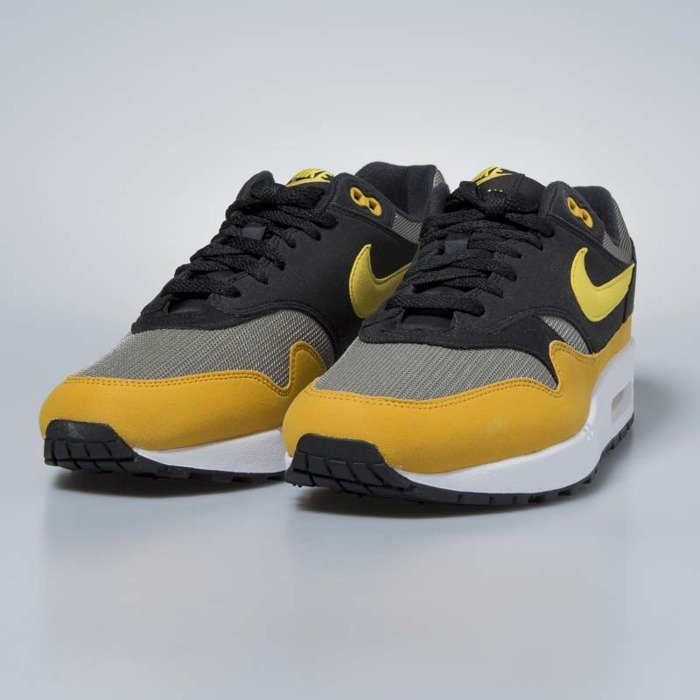 cheap for discount 44c55 1eed3 ... Nike sneakers Air Max 1 dark stucco / vivid sulfur - black AH8145-001  ...