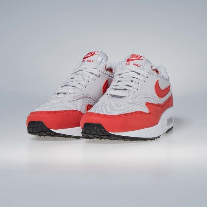 Nike WMNS Air Max 1 Vast GreyHabanero Red For Sale