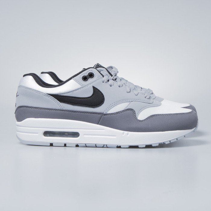 super popular 1ac71 b966a Nike sneakers Air Max 1 white   black - wolf grey - gunsmoke AH8145-101 ...