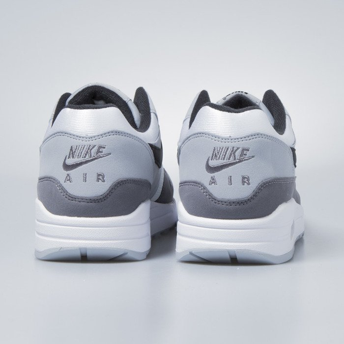 wholesale dealer 8e9cf 38d52 ... Nike sneakers Air Max 1 white   black - wolf grey - gunsmoke AH8145-101  ...