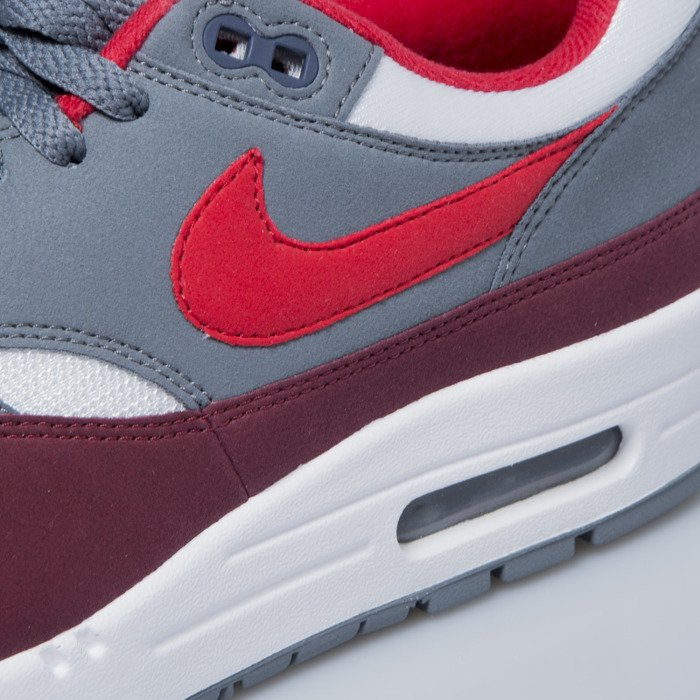 c6cebe2d17944 ... Nike sneakers Air Max 1 white   university red - cool grey AH8145-100  ...