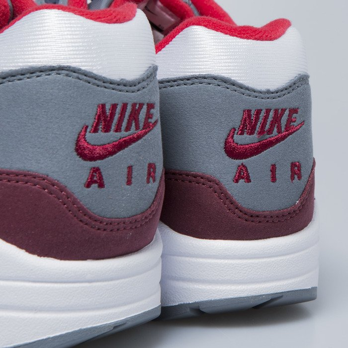 new product dd525 a0ad2 ... Nike sneakers Air Max 1 white   university red - cool grey AH8145-100  ...