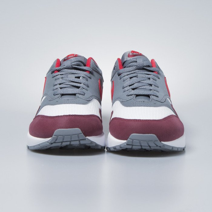 new product 6571d 99436 ... Nike sneakers Air Max 1 white   university red - cool grey AH8145-100  ...
