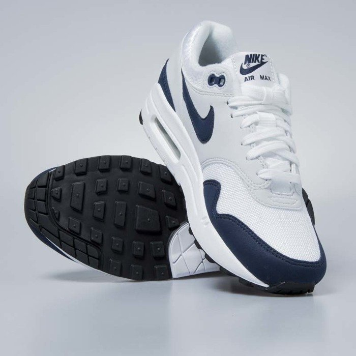 best sneakers a0ea0 c10fe ... Nike sneakers WMNS Air Max 1 white  obsidian - pure platinum  319986-104 ...