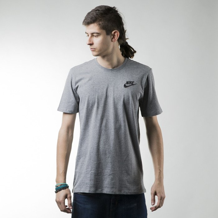 ... Nike t-shirt Embrd Futura heather grey (644315-091) ...