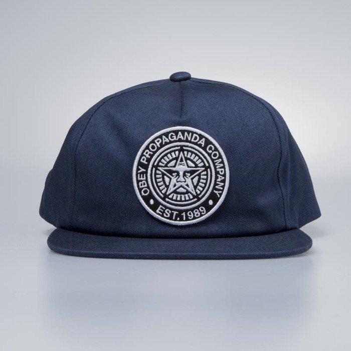 2e9345e3196885 Obey Established 89 Snapback II navy | Bludshop.com
