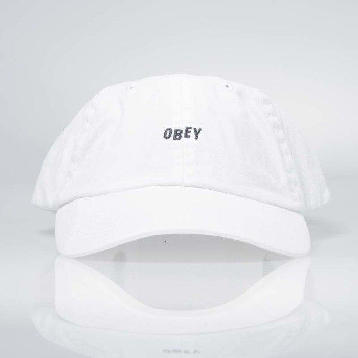 af72f0312a5 ... Obey Jumble Bar Hat II 6 Panel white ...