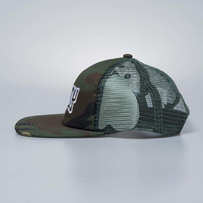 ... Obey Snapback Runnin Trucker Hat field camo ... 39ec047d58c