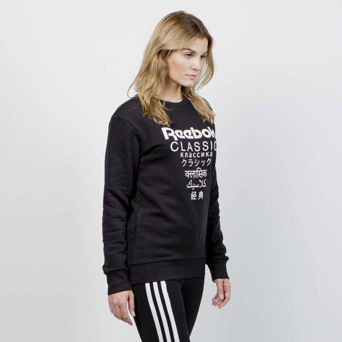 cd3454c0 Reebok Classics Sweatshirt WMNS GP Fleece Crew black   Bludshop.com