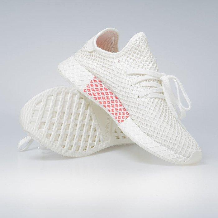 5b884883b ... Sneakers Adidas Originals Deerupt Runner off white   ftwr white   shock  red (BD7882) ...