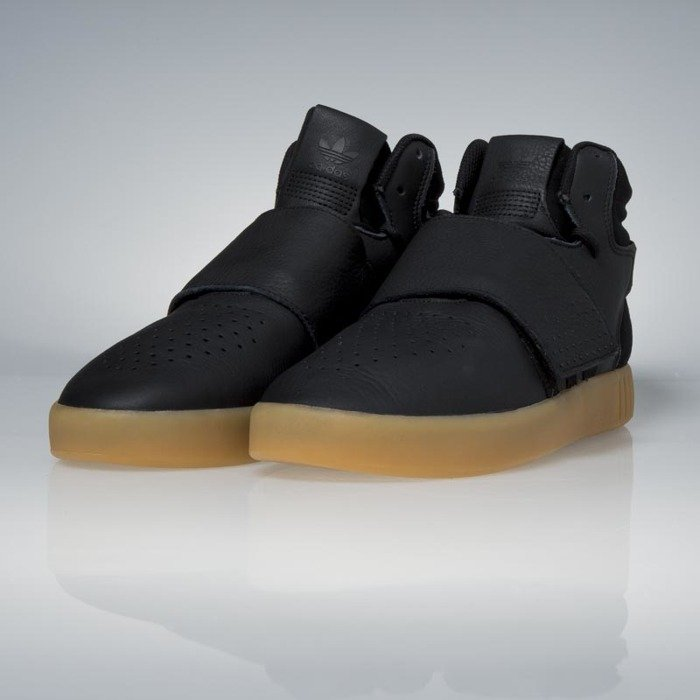 low cost large discount wholesale dealer Sneakers Adidas Originals Tubular Invader Strap core black / gum / footwear  white BY3630