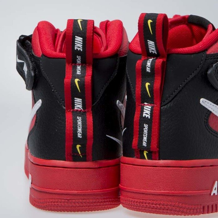 Sneakers Nike Air Force 1 1 Mid  07 LV8 university red   white-black ... 458302f0b