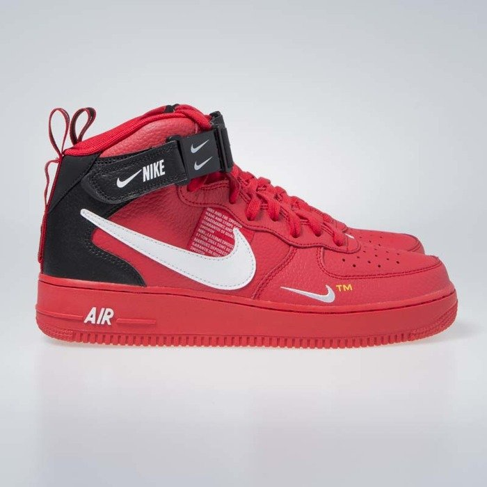 ... Sneakers Nike Air Force 1 1 Mid  07 LV8 university red   white-black ... a971e2c083d5