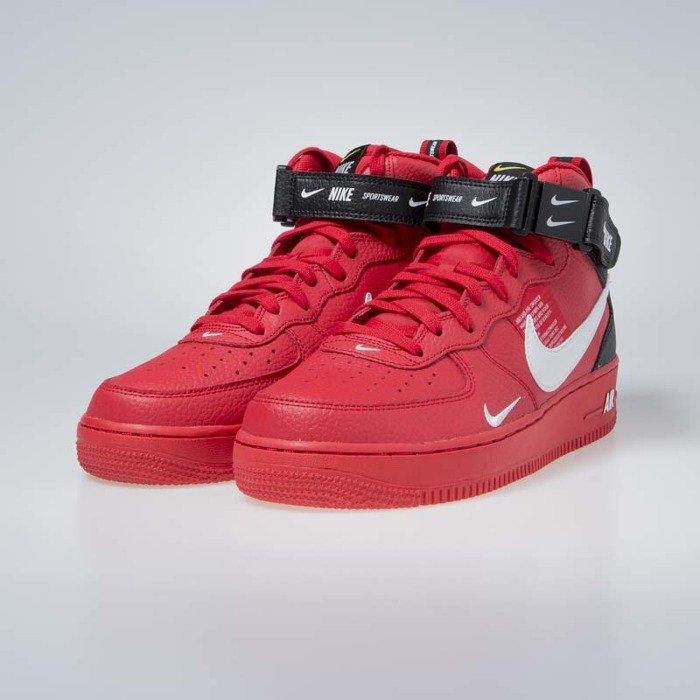 buy popular e73be 3b7ed ... Sneakers Nike Air Force 1 1 Mid  07 LV8 university red   white-black ...