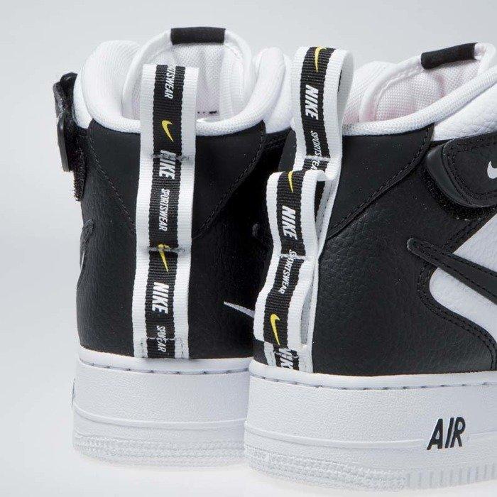 Sneakers Nike Air Force 1 1 Mid '07 LV8 white black tour yellow (804609 103)