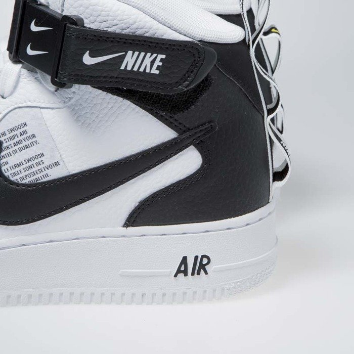 best service ef5ff 6c566 Sneakers Nike Air Force 1 1 Mid  07 LV8 white   black-tour yellow ...