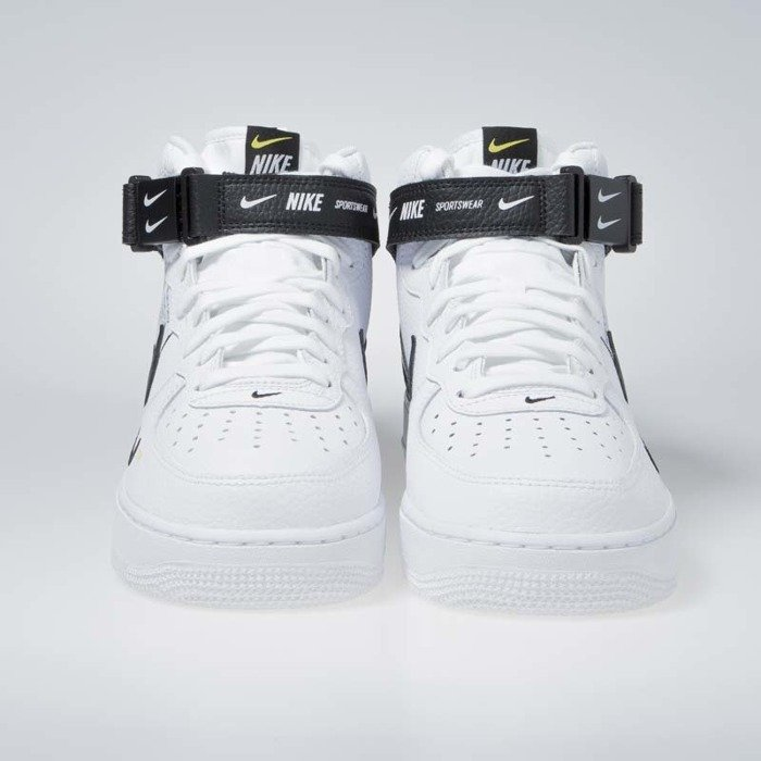 cheap for discount 2a772 804cb ... Sneakers Nike Air Force 1 1 Mid  07 LV8 white   black-tour yellow ...