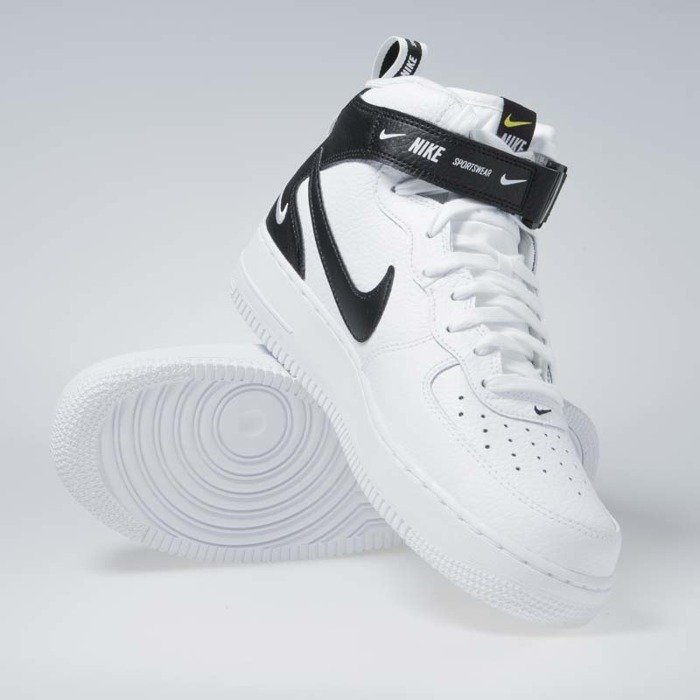 cheap for discount 5a737 c296a ... Sneakers Nike Air Force 1 1 Mid  07 LV8 white   black-tour yellow ...