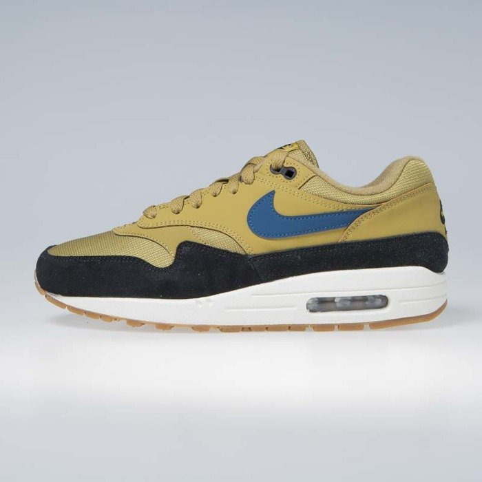 new style b40d9 ed062 ... Sneakers Nike Air Max 1 golden moss blue force-black (AH8145-302 ...