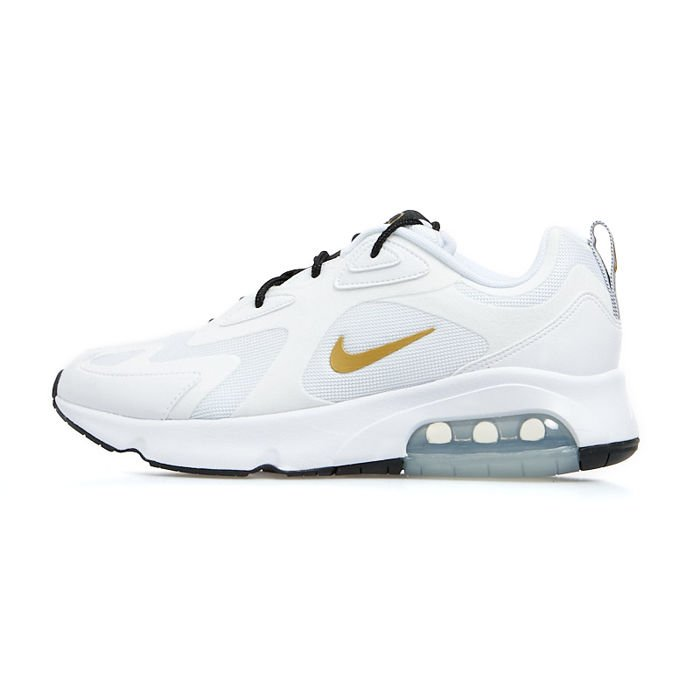Sneakers Nike Air Max 200 whitemetallic gold black (AQ2568 102)