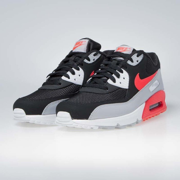 5f881879fb ... Sneakers Nike Air Max 90 Essential wolf grey/bright crimson-black  (AJ1285- ...
